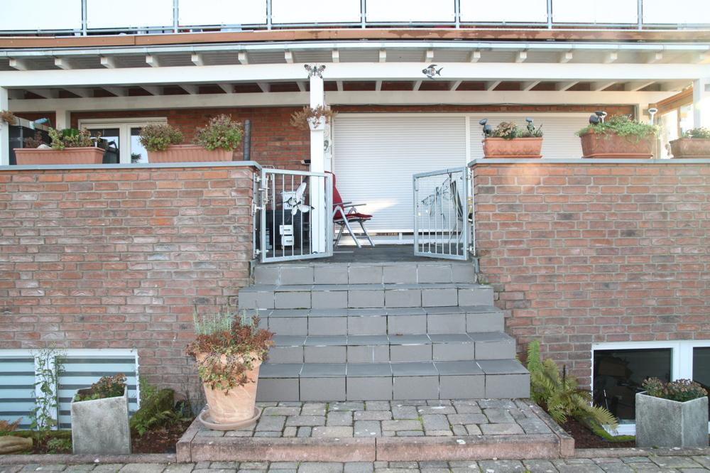 Blick zur Terrasse Wohnung EG