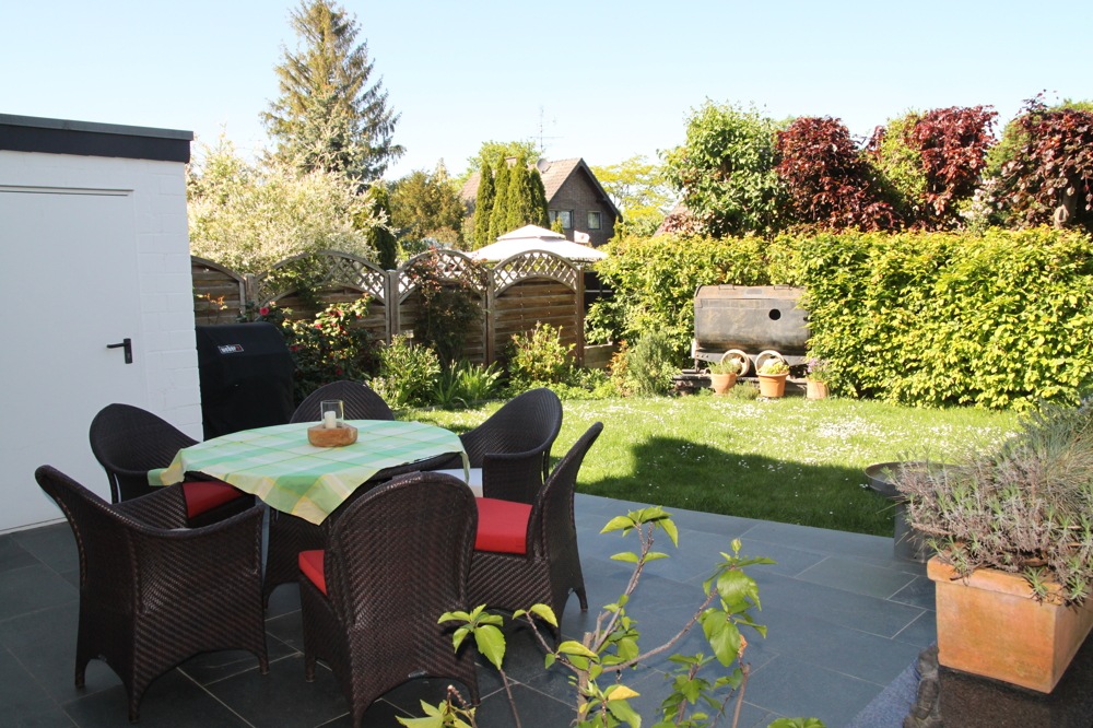 Gartenblick Nord/Ost-Seite